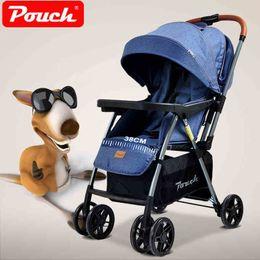 2019 легкие детские коляски Светлая прогулочная коляска младенца с полным тентом Двухнаправленным, подвес, может сидеть ложь, вагонетка младенца, коляска 4 колес, экипаж дешево легкие детские коляски