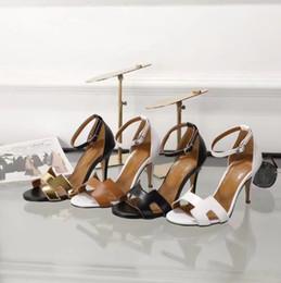 Wholesale gold flip flops for women - 2018 New Shoes Fashion Cross-band Summer Leather Sandal Black Flip Flops For Women stiletto 39 S Wedges Hight-Heel 7.5Cm