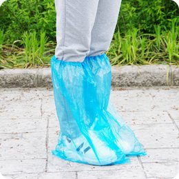 Wholesale Plastic Overshoes - 5 Pair Waterproof Rain Shoes Covers for Rainy Day Non-slip Rain Boot Motorcycle Bike Overshoes Protection Cover Travel Equipment