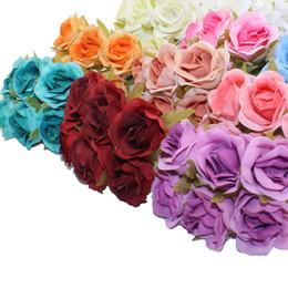 diy rose cloth Coupons - 3CM 60PCS lot Artificial Flowers Cloth Rose Heads DIY Beginning Decorative Wedding Party Wholesale Handmade Flowers