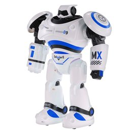 Wholesale Remote Control Bullets - Intelligent Remote Control Intelligent Robot Programmable Slide Walking Shooting Bullet-proof Dance Infrared Control Robot Car Electronic To
