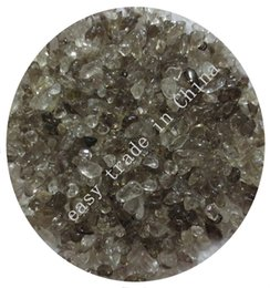 Wholesale Gemstones Chips - C45 200g 9mm Smoky Quartz Agate Chips Tumbled Gemstone Aquarium Crystals Beads