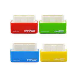 Wholesale Ecu Chip Tuning - For Benzine  Diesel Cars NitroOBD2 EcoOBD2 ECU Chip Tuning Box Diagnostic Tool Nitro OBD2 Eco OBD2 Chip Save Fule Increase Power