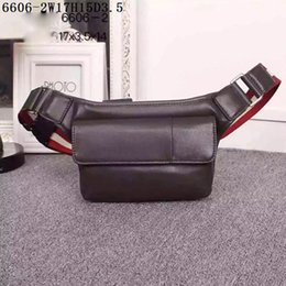 Wholesale boys choice - Men Waist Bags High quality real leather Double layers pockets one pocket with zipper outside 17cm wide casual life first choice