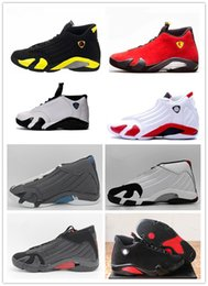 Wholesale Size 13 14 - 2018 Free shipping retro 14 mens basketball shoes Indiglo Oxidized Green Thunder Black Toe Cool Grey mens sneaker sport shoes size 8-13