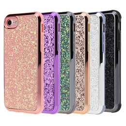 Wholesale rhinestone case for iphone - For Iphone 8 plus Case Luxury 2in 1Bling Rhinestone Soft TPU Hard PC Back Cover Phone Case for iphone 8 8plus