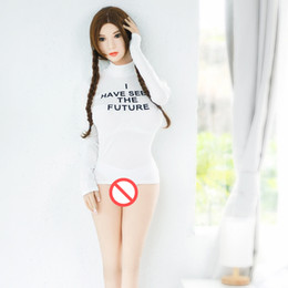 Wholesale Vaginal Oral - Top Sell Men Realistic Sex Doll New Silicone Sex Doll Full With 165cm Lifelike Adult Love Toy Oral Vaginal Anal Sex 3 Holes
