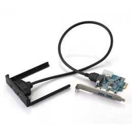 Livraison gratuite Carte PCI-E PCI Express 2 ports Hub Adaptateur + Panneau avant USB 3.0 5Gbits / s haute vitesse ? partir de fabricateur