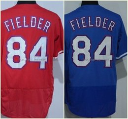 Wholesale Prince Homes - 2018 Flexbase Texas #84 Prince Fielder Home Away Baseball Jersey Blue White Red Retro Cool Base Stitched Jerseys