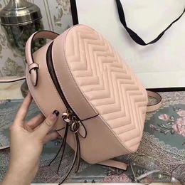 Marmont mochila mujer marcas famosas mochilas bolso de escuela de ocio moda cuero acolchado mochila diseñador de lujo bolsos de mujer bolso de Italia desde fabricantes