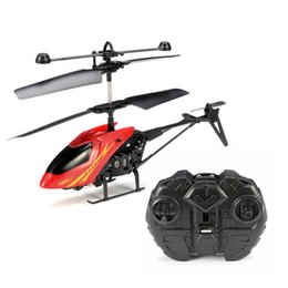 Wholesale mini helicopter batteries - 2.5CH Mini Infrared RC Helicopter for Kids Children Funny Magic Toys Birthday Holiday Gift Present 2 Channel Remote Control RTF Radio boxes