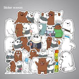 2019 adesivos intermitentes 36 unidades / pacote Bonito Dos Desenhos Animados Urso Despido Adesivos Para Malaio Skate Laptop Brinquedos Flash Graffiti Decalques F3 adesivos intermitentes barato