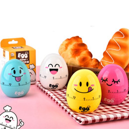 Wholesale Multi Timer Kitchen - Cartoon Egg Design Creative Kitchen Timers Super Cute Mechanical Multi Design Timing Device For Kitchen Cook Props 6 3yy Z