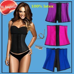 9c560166b2 Wholesale- slimming sheath women gaine amincissante corset slimming latex  waist trainers body Shapers girdles women rubber belt belly fajas