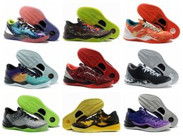 Wholesale media choice - Kobe X 8th Overcome Men's Basketball Shoes Color Multicolor Choice Fashion Sports High Quality Indoor & Outdoor Low Top Sneakers