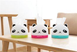 Wholesale Desktop Cute Box - Cute Cartoon Panda Tissue Box Creative Home Coffee Table Pumping Tray Living Room Desktop Plastic Napkin Storage Box