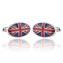 Canada Boutons de manchette hommes femmes pour chemises bras boutons émail de haute qualité drapeau UK boutons de manchette gemelos garçons garçons bijoux cadeaux décorations Offre