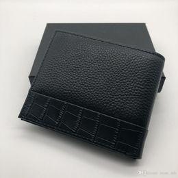 Clip di carta di credito online-Di lusso popolare in pelle da uomo clip corta portafoglio clip MT portafoglio MB portafoglio di design porta carte di credito tasca foto M B scatola avanzata