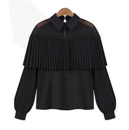Chemise en mousseline de soie en dentelle Tops Tee shirt à manches longues Chemise Casual Blouse lâche TOY ? partir de fabricateur