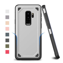 Wholesale iphone black scratch - Hybrid Armor Case Dual Layer Tough Case For Galaxy S8 S9 Plus Anti-Scratch TPU PC Shockproof Case For iPhone X 6 7 8 Plus No Package