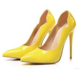Zapatos formales blancos de las mujeres online-Marca Ladies Formal Dress Shoes Blanco Mujer Zapatos de boda Pigalle Cuero Zapatos Mujer Stiletto Tacones 12CM High Pumps Bridal