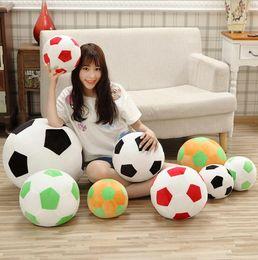 Wholesale soft soccer balls - Football Shape Stuffed Doll 20cm 30cm Mascot Ball Soccer Plush Toy Russian World Cup Souvenirs Kids Baby Gift OOA5165