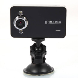 carro cheio conduzido Desconto Traço do carro cameria 2.0-Full HD 1080 P 2-LED Grande Angular Carro Lens Gravador com Night Vision Carro DVR K6000 Preto