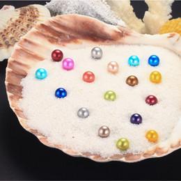 Canada 2018 perles d'eau douce bricolage dans les huîtres 25 couleurs perles perles d'huître avec emballage sous vide luxe bijoux cadeau d'anniversaire pour les femmes cheap jewelry packs Offre