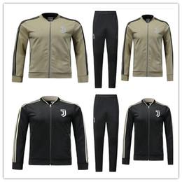 Wholesale Grey Man Jacket - 2018 DYBALA soccer jacket Training suit 17 18 19 HIGUAIN MARCHISIO PJANIC MANDZUKIC BUFFON football shirts jackets tracksuit Sweatshirt set