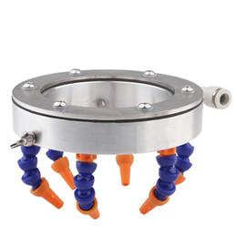 Ugello del tubo flessibile online-Ugello tondo Raffreddamento ad acqua Anello di spruzzo universale Tubo refrigerante Tubo per le parti del mandrino del router di cnc