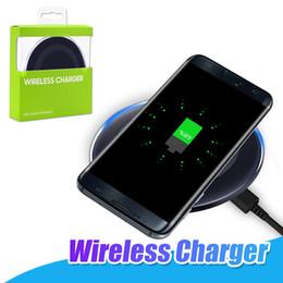 Ladegerät für smartphones online-Für Samsung Qi Wireless Charger Pad Für iPhone X Samsung S6 Edge S8 Hinweis 8 Kompatibel mit Qi-fähigen Smartphones Ladestation mit Retail-Box