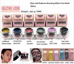 Wholesale Female Jobs - New faced 6 colors Radiance Boosting give yourself a glow job mask Glitter face mask soft facial mask high quality