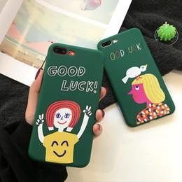 arte telefone celular Desconto Para iphone 8 casos de telefone boa sorte smiley face criativo silicone macio art cartoon phone case para iphone 6 7x além de