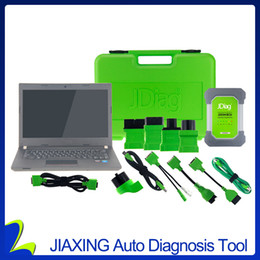 Wholesale bmw j2534 - Wholesale-WIFI JDiag Elite II Pro with Brand New Laptop Full Version Professional J2534 Diagnostic and Programmer Tool