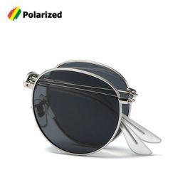 e1e5b620ff JackJad 2018 Fashion 3532 POLARIZED Round Metal Style Sunglasses Fold  Folding Vintage New Brand Design Sun Glasses Oculos De Sol