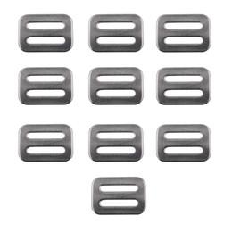 """Stahlschieber online-Verbesserte Edelstahl Triglides Sliders für 1 """"Gurtband (25MM-28MM breit) 10 / PK - kein Gurtband"""