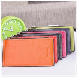 a8fc9a91c9c57 Vintage Metall Haspe 16 Kartensteckplätze ultradünne Kartenhalter Frauen  Lange Geldbörse Leder Brieftasche Handytasche Zip Kartenhalter CCA8847 30  stücke