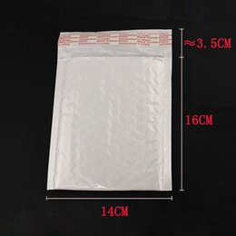 Wholesale pearl white envelopes - Wholesale- New 160x140MM 130x110MM 10pcs lot High Quality Pearl Film Bubble Mailers White Padded Envelopes Bags CE0004