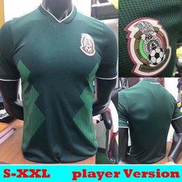 Wholesale Mexico Soccer Jerseys Black - Player Version 2018 2019 Mexico CHICHARITO J.DOS SANTOS HERRERA GUARDADO Soccer Jerseys 18 19 Mejico camisetas LAYUN MARQUEZ VELA Shirts
