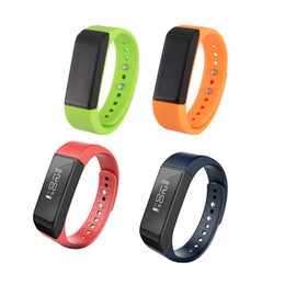 Wholesale pedometer step counter - I5 Plus Bluetooth Smart Sports Bracelet Wireless Fitness Pedometer Activity Tracker with Steps Counter Sleep Monitoring With Retail Package