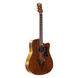 guitarra de marca rosewood Rebajas 2018 nueva llegada de la fábrica 41 pulgadas dao madera acústica guitarra eléctrica bolsa gratis envío gratis