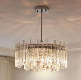 2020 lámpara colgante redonda Candelabros de cristal de lujo moderno redondo colgante de cristal accesorios de iluminación del tubo de vidrio para sala de estar dormitorio decoración lámpara colgante redonda baratos
