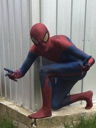 Argentina Alta calidad Superhero Amazing Spider Man traje de Cosplay traje de hombre araña Traje cosplay Suministro