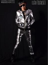 Man han édition de la nouvelle boutique personnalité ancre bar chanteur costumes de scène costume de danse argent mosaïques veste de baseball M - 2 xl ? partir de fabricateur