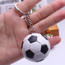 Wholesale cups photos - 30PCS 2018 Russia World Cup Football Key Chains Souvenirs Germany Spain Portugal Brazil Flag Men and women Keychain Pendant Gifts