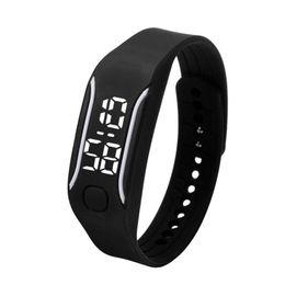 Las mujeres miran el precio barato online-Silicona LED Relojes Deportivos Digitales Caucho Correr Reloj Fecha Hora Hombres Mujeres Unisex Pulsera Relojes de Pulsera Precio Barato E2
