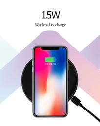 15w iphone charger Скидка Оригинальный высокое качество универсальное беспроводное зарядное устройство 15 Вт цинковый сплав беспроводной быстрой зарядки для Iphone X Samsung Gionee Xiaomi с кабелем типа C