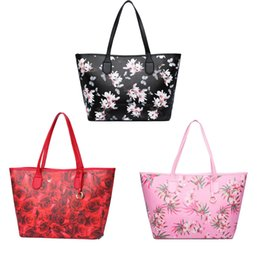 Wholesale Stamped Bag - Woman Luxury Brand Vic Pu Leather Hand Bag Travel Bag VS Cosmetic Collect Case Stamp Flower
