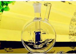 Flache wasserflaschen großhandel online-Flacher Topf mit Wasser-Flaschen, Großhandelsbongs-Öl-Brenner-Rohre Wasser-Rohr-Glasrohr-Öl-Anlagen, die freies Verschiffen rauchen