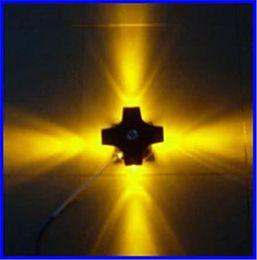 современная лампа для наружной установки Скидка Современные 4W светодиодные лампы настенный светильник вверх / вниз свет водонепроницаемый IP65 открытый наружная стена светильник лампа для строительства инженерный проект